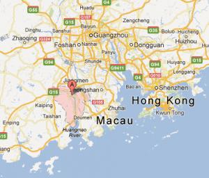 Compté de Xinhui en rouge