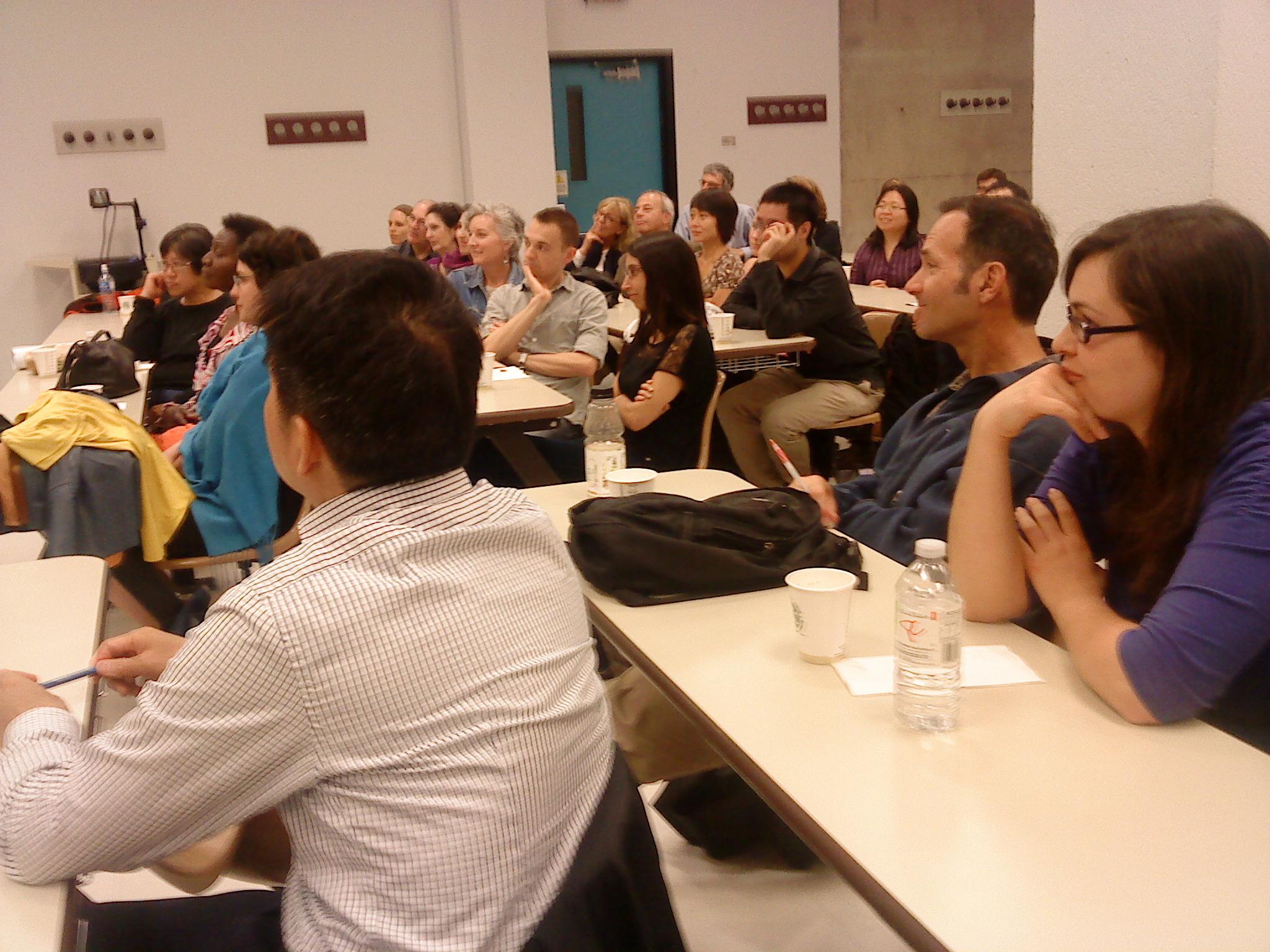 Un public très interactif et intéressant